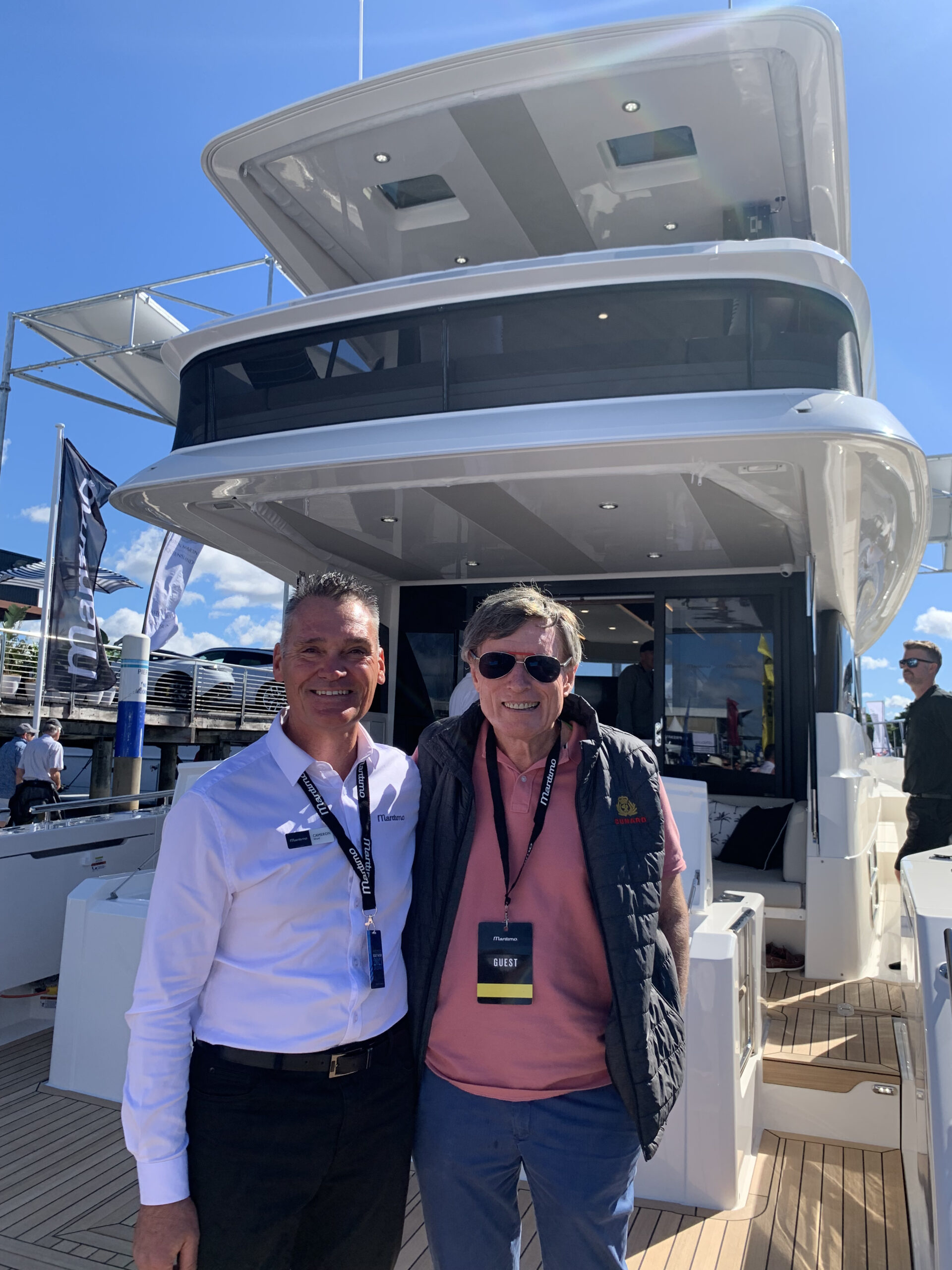 David Crothers onboard his new Maritmo M55 Flybridge Motor Yacht