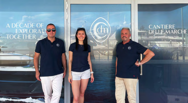 the new staff involved in the opening of the Cantiere Delle Marche branch in Sydney Australia