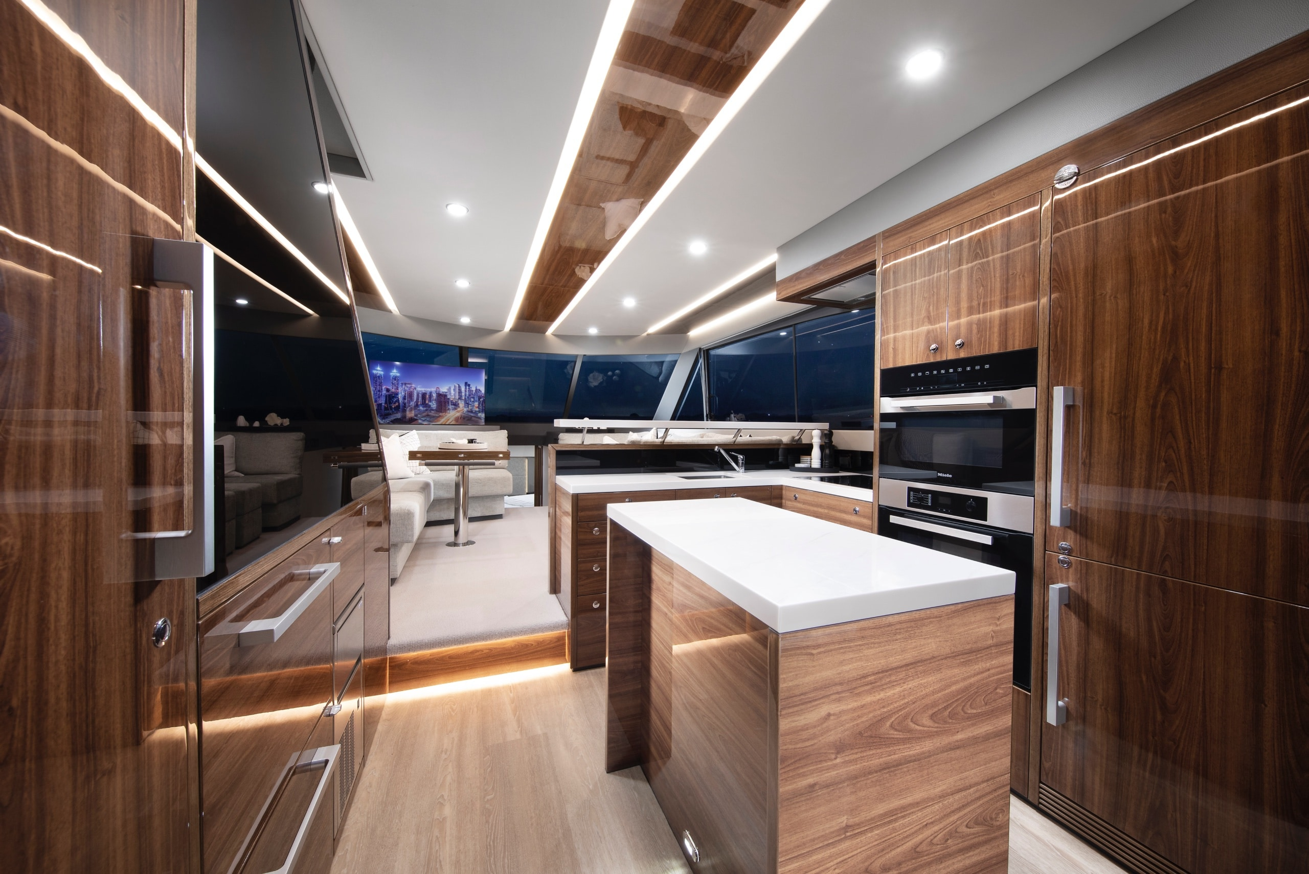 Maritimo M55 kitchen and galley area