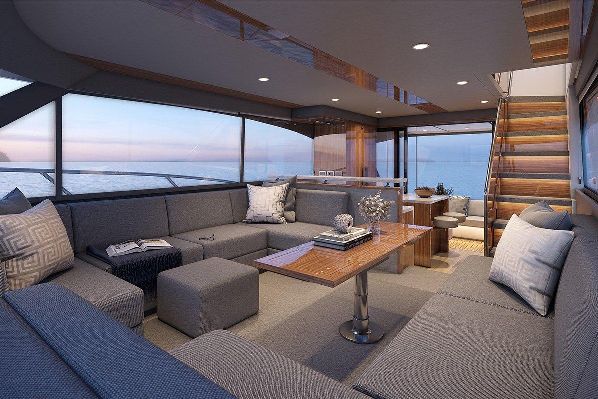 Maritimo M600 interior living area