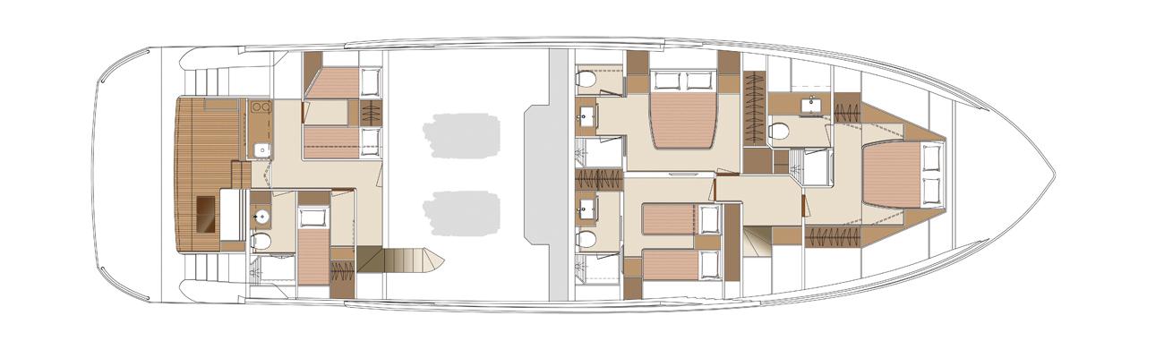 Plan of lower deck on the Horizon FD80