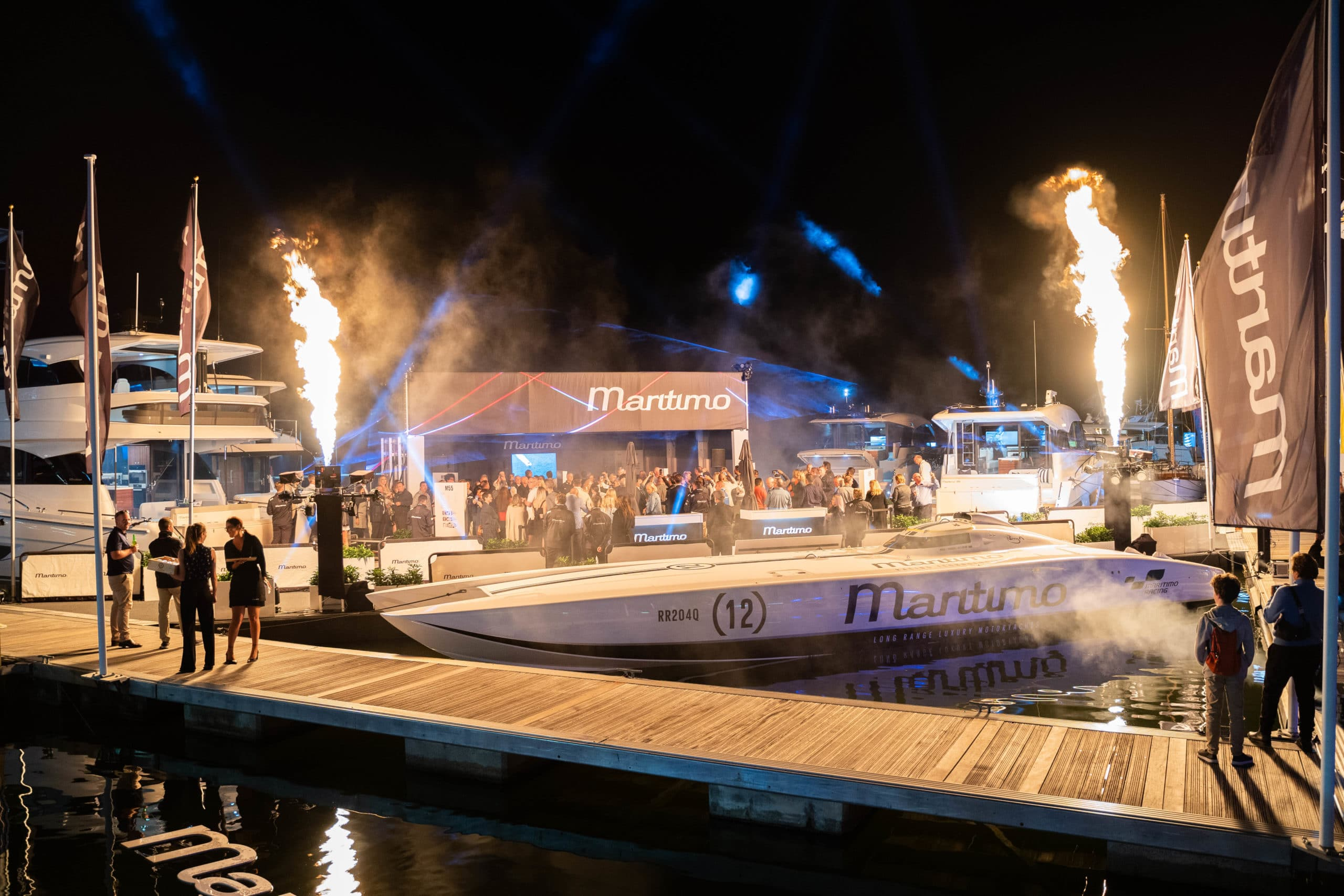 Maritimo stand at the Sanctuary Cove International Boat Show