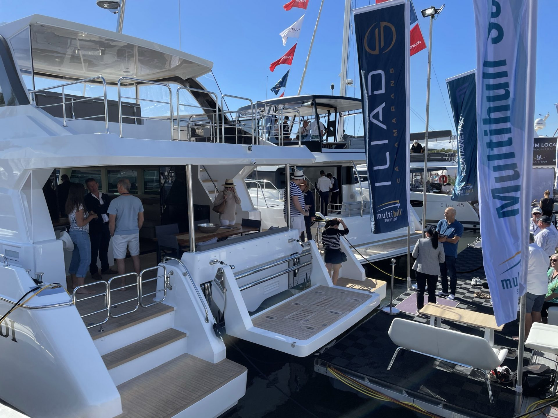 Multihull Solutions stand at the Sanctuary Cove International Boat Show