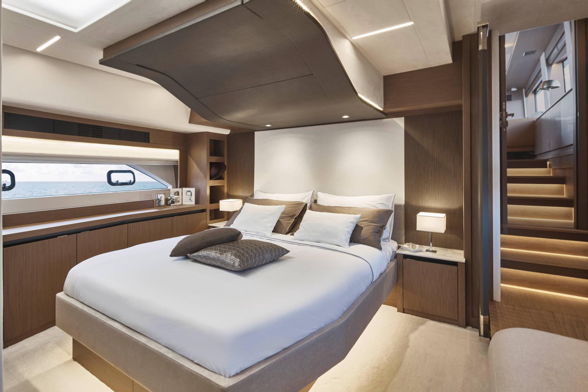 Master suite onboard Prestige X70
