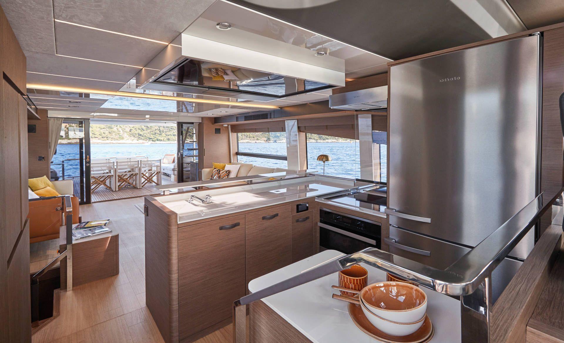 alternate angle Prestige X70 interior living area