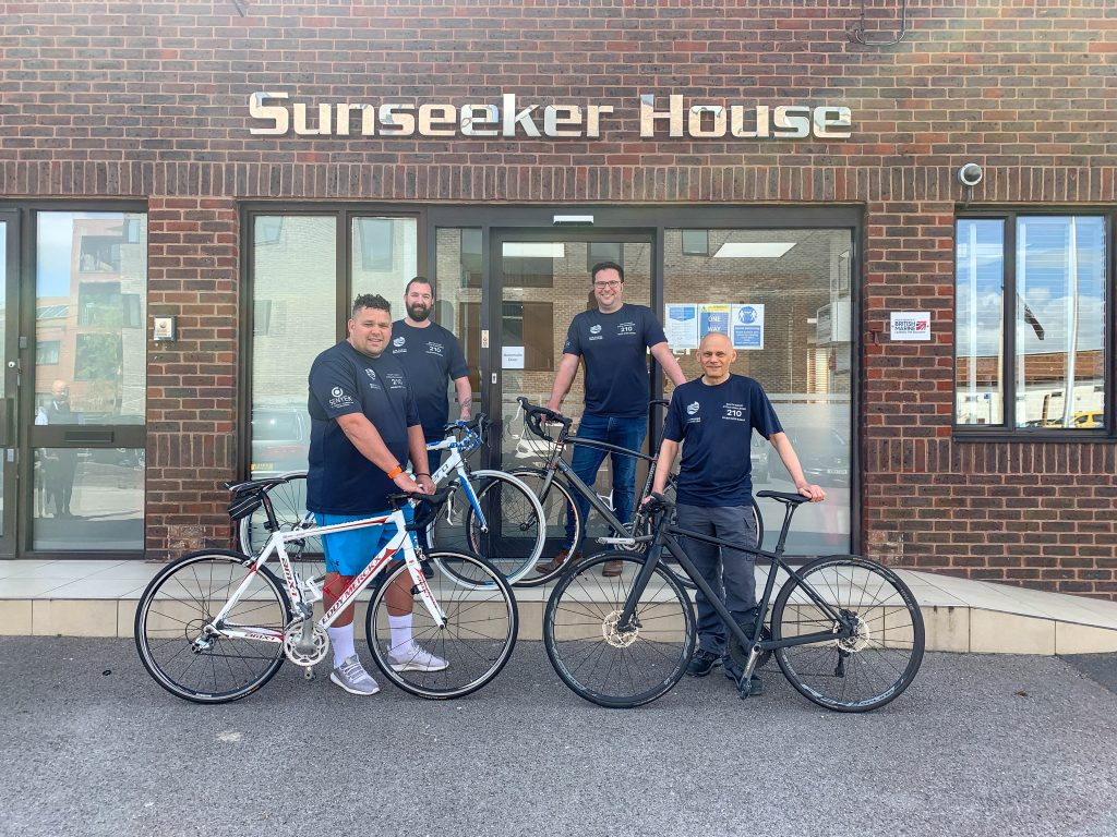 Picture of the Sunseeker Team outside their offices