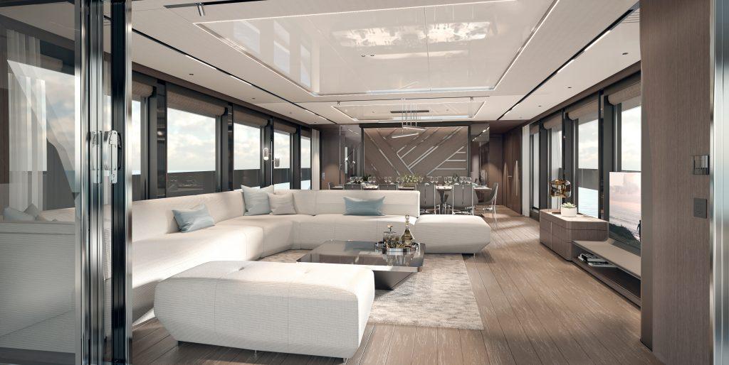 Interior of Sunseeker 100 Yacht