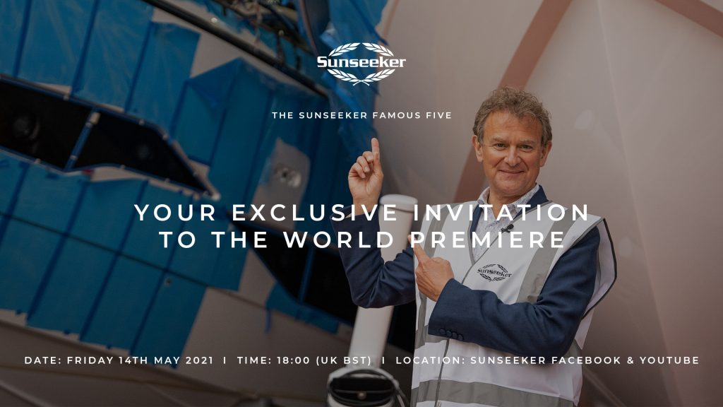 Sunseeker invitation to the famous five world premiere