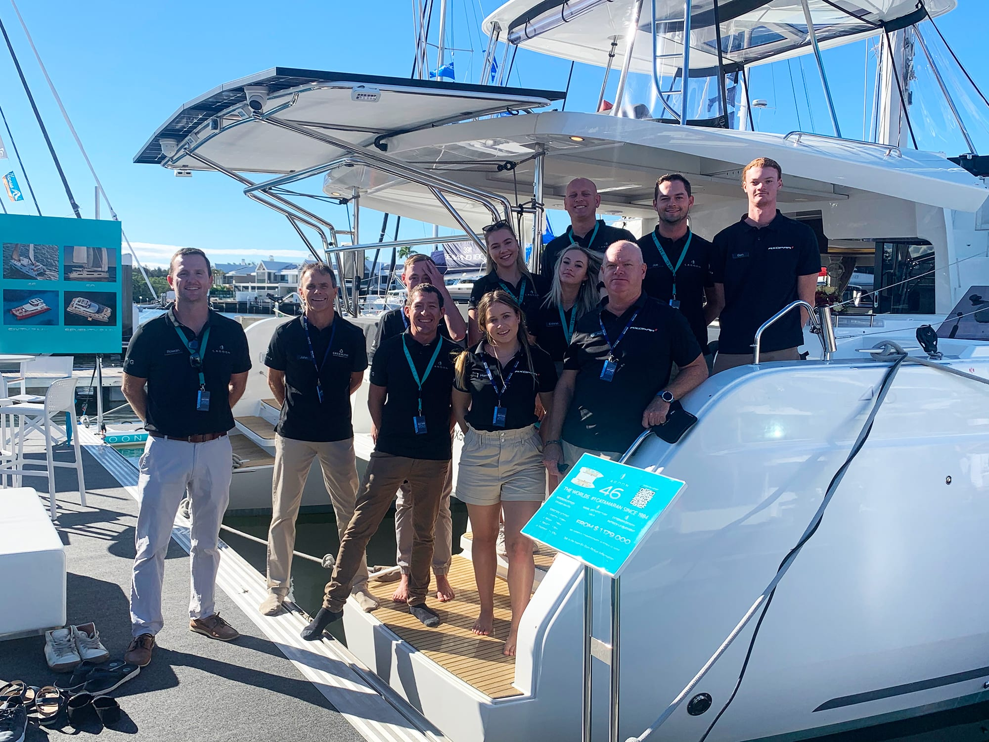 The Multihull Group team at Sanctuary Cove