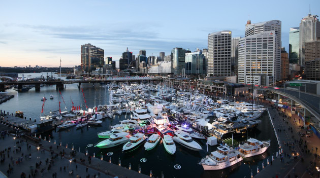 display of boats at the Sydney Festival of Boating