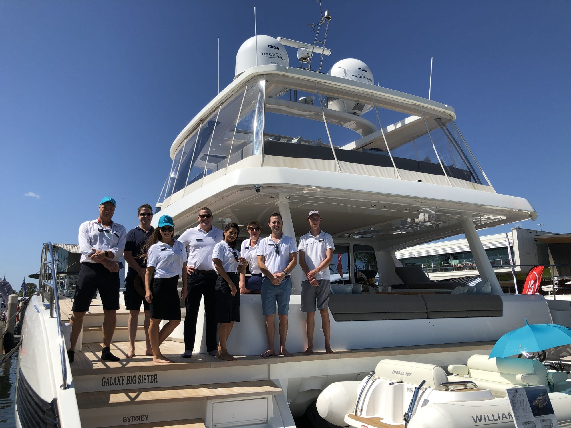 TMG team onboard Lagoon SEVENTY8