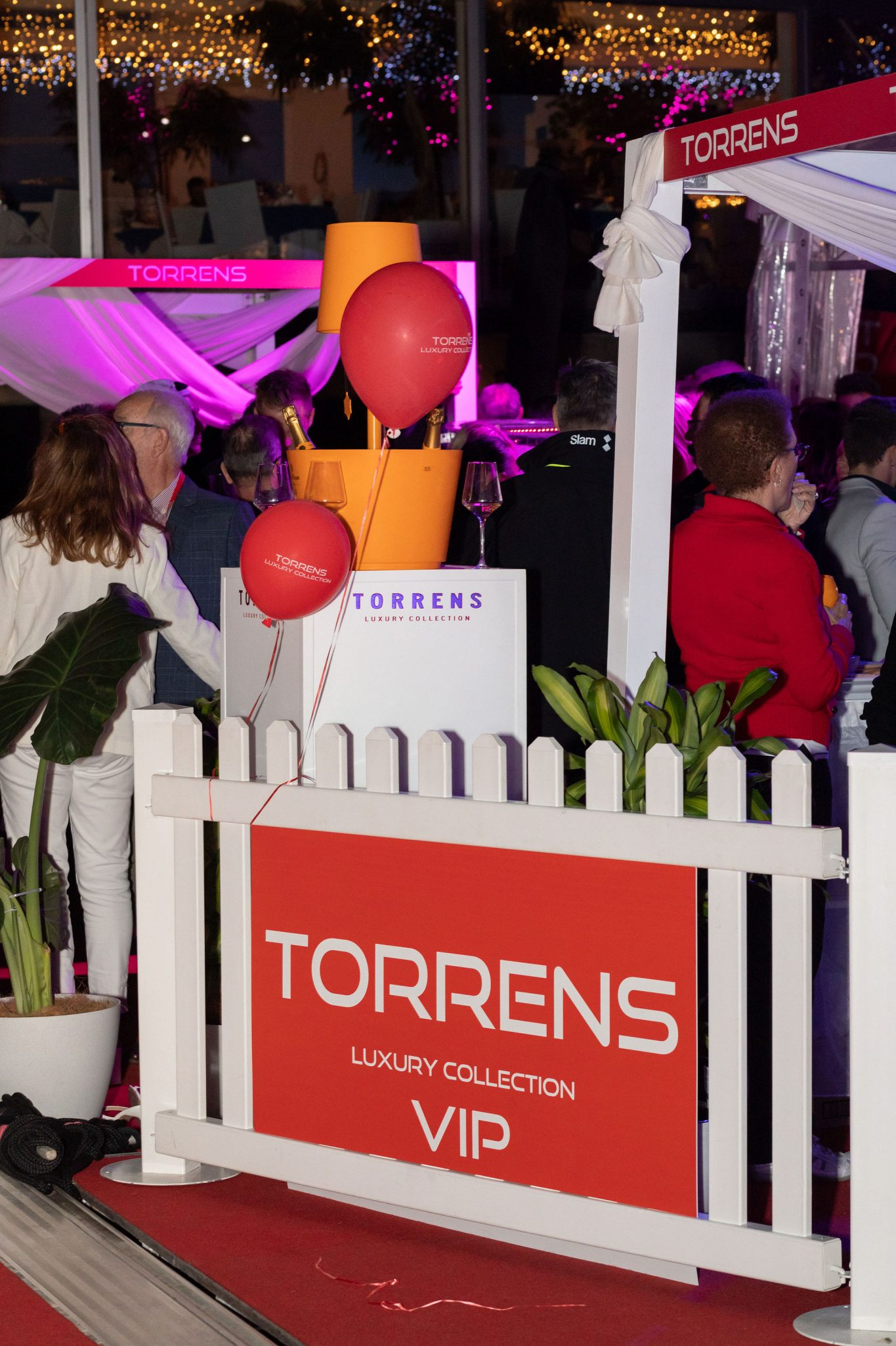 Sign for the Torrens VIP party