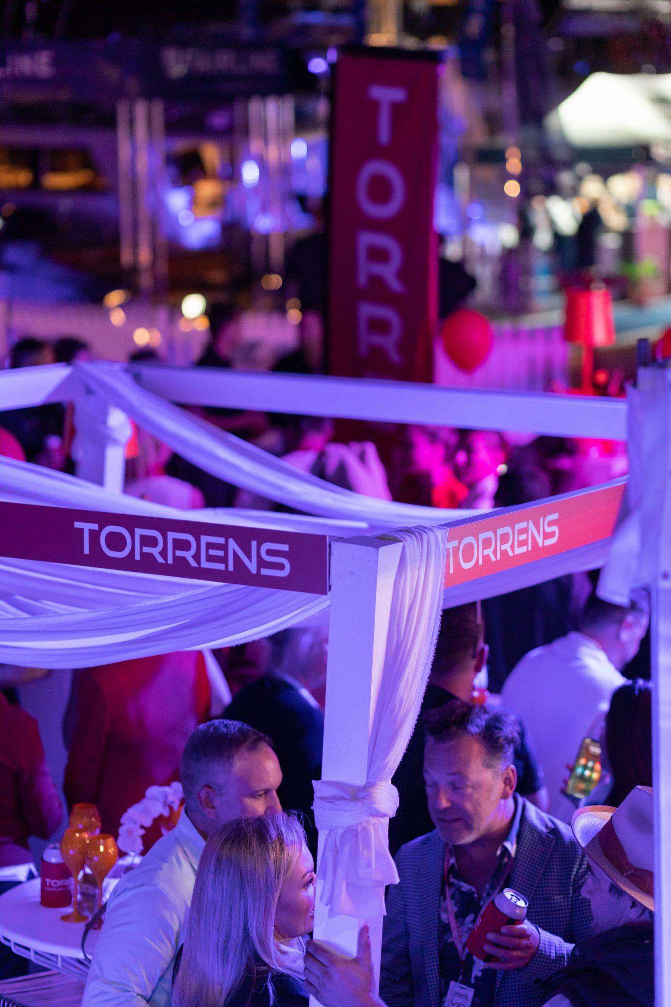 party at the Torrens stand at Sanctuary Cove International Boat Show