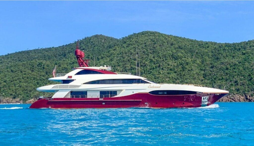 side angle of Cabernet by Sensation Yachts