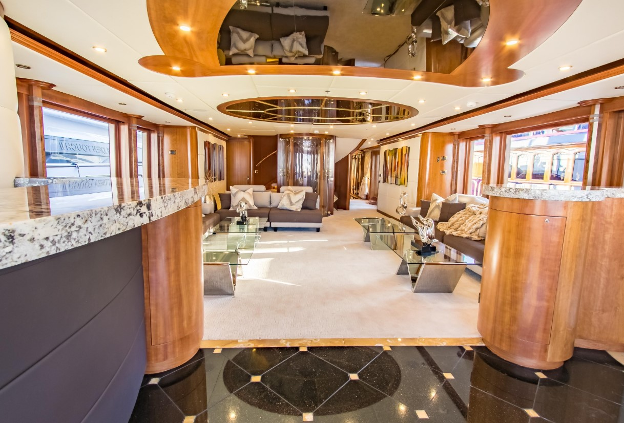 living area onboard Cabernet by Sensation Yachts