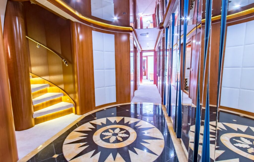 hallway onboard Cabernet by Sensation yachts