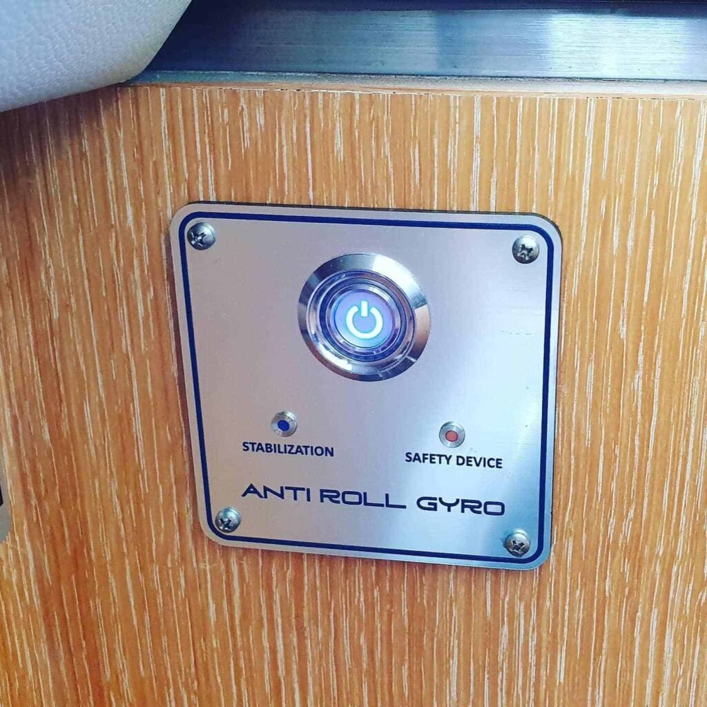 control panel for the ARG Gyro system