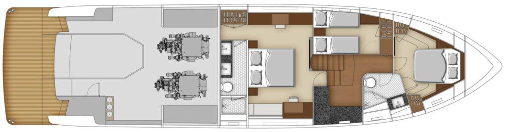 Whitehaven 6800 below deck