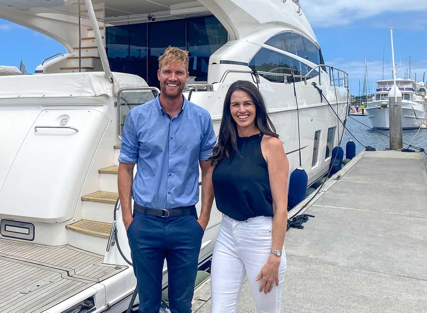 WHitehaven and Australian Marine sales staff members one male one female