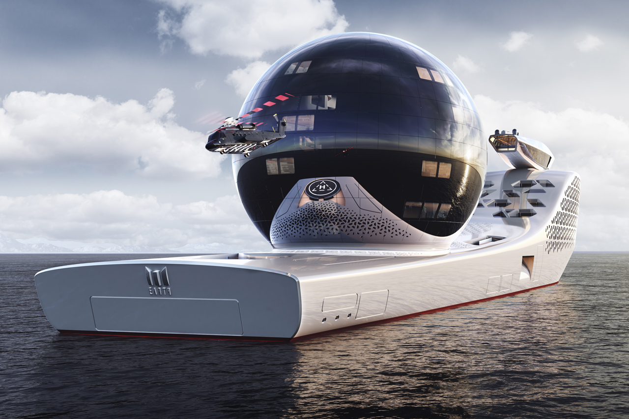 rear angle of the Iddes Yachts Earth 300