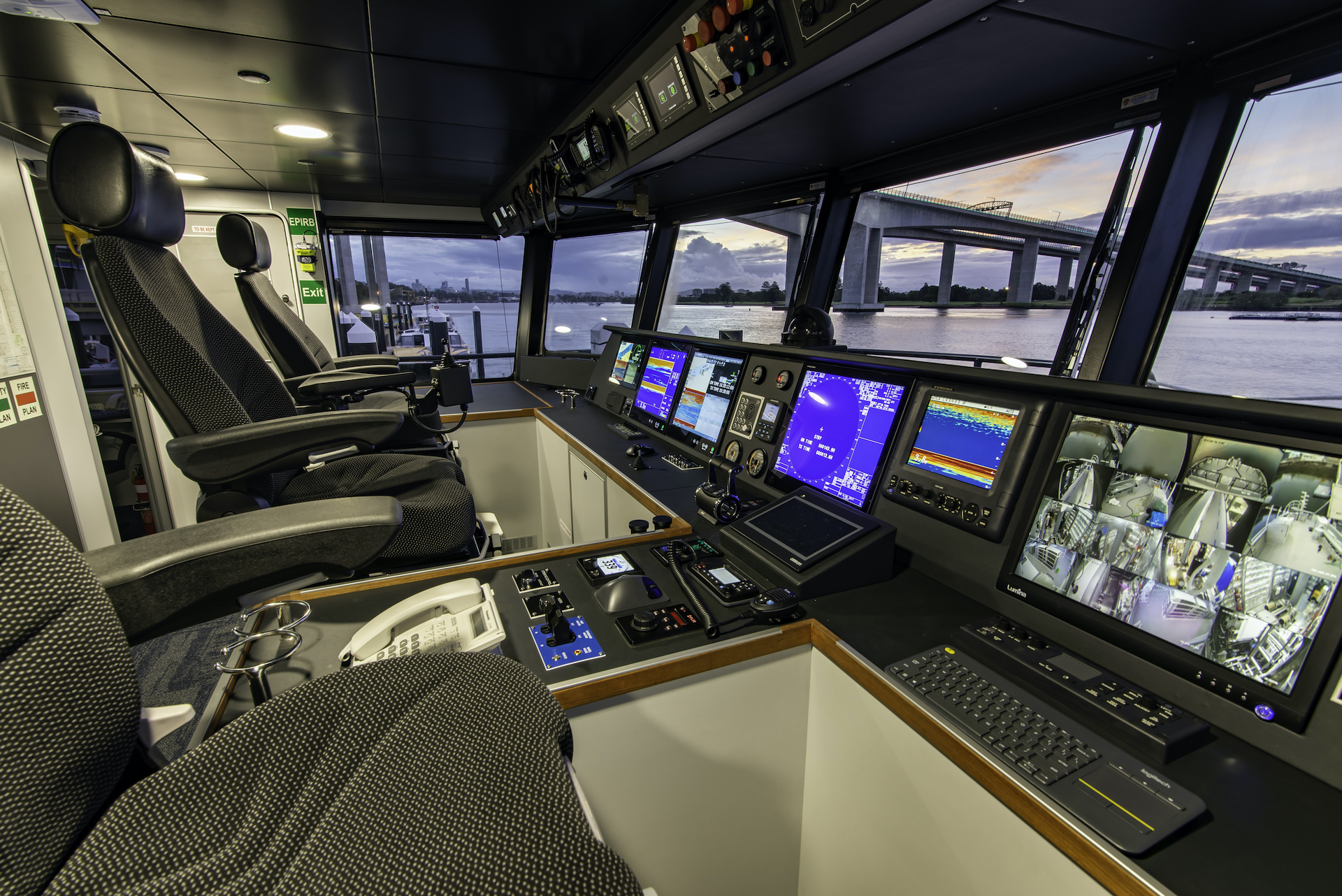 control room onboard the Reef Resilience