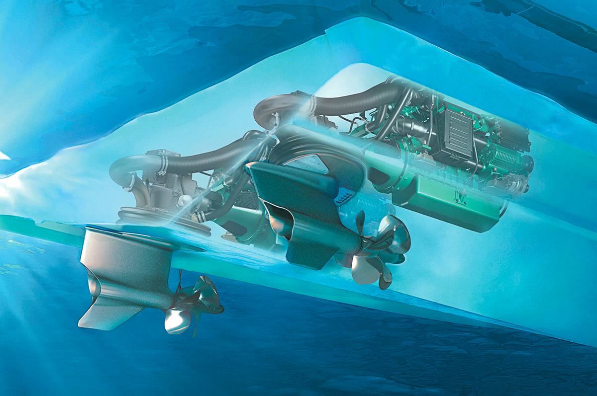 diagram of the IPS system from Volvo Penta
