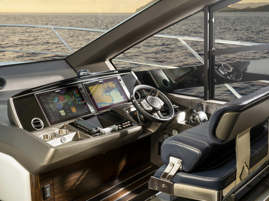 cockpit onboard a Sunseeker 55 powered by Navico