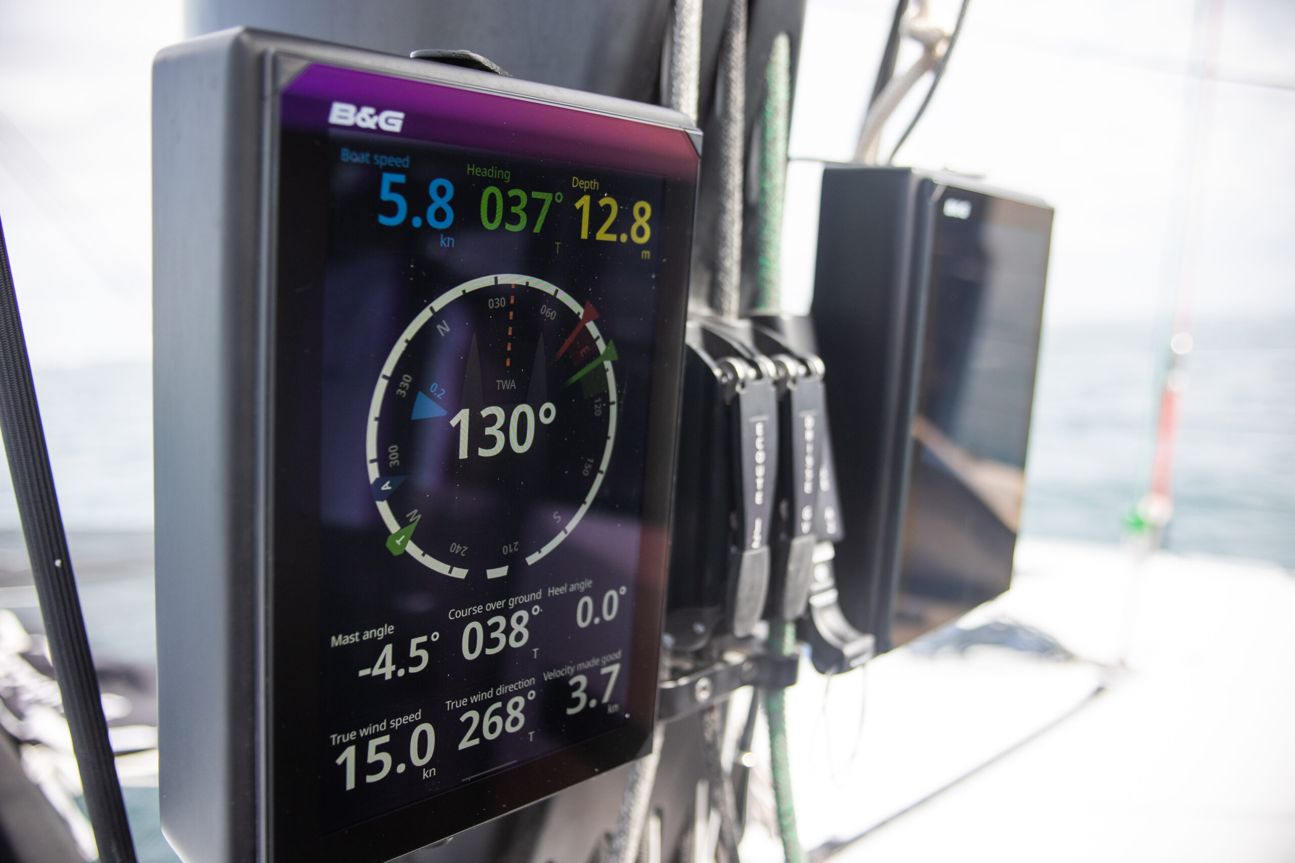 close up of control panel from Navico onboard a vessel