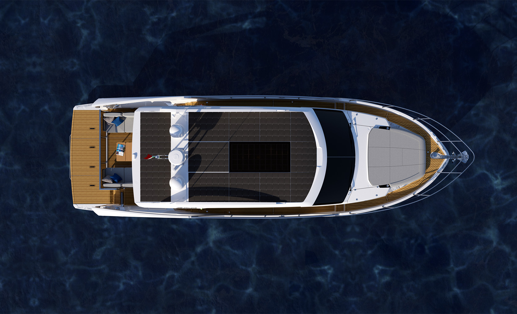 aerial view of the Absolute 48 Coupe