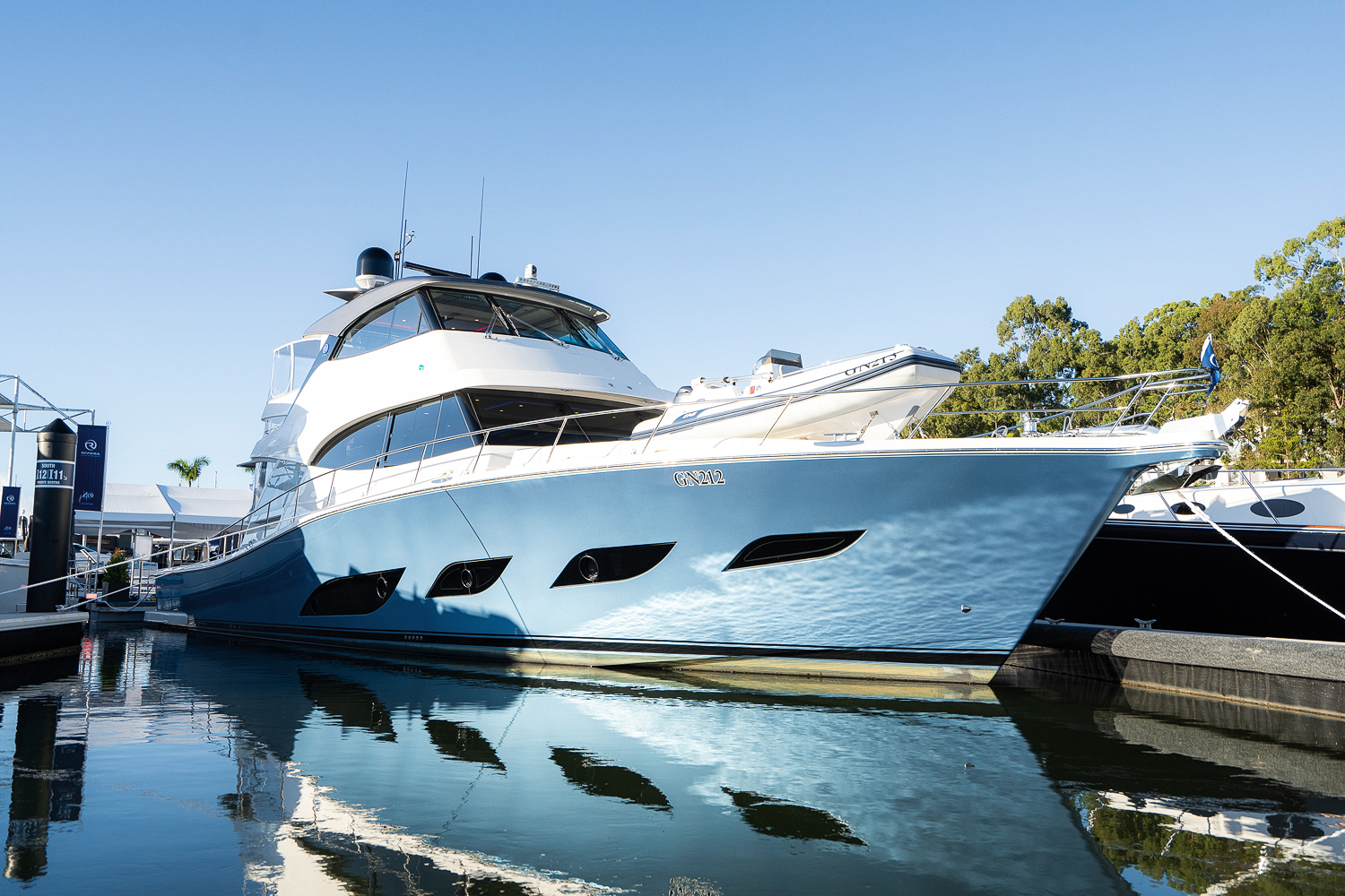 boat moored at Sanctuary Cove International Boat Show