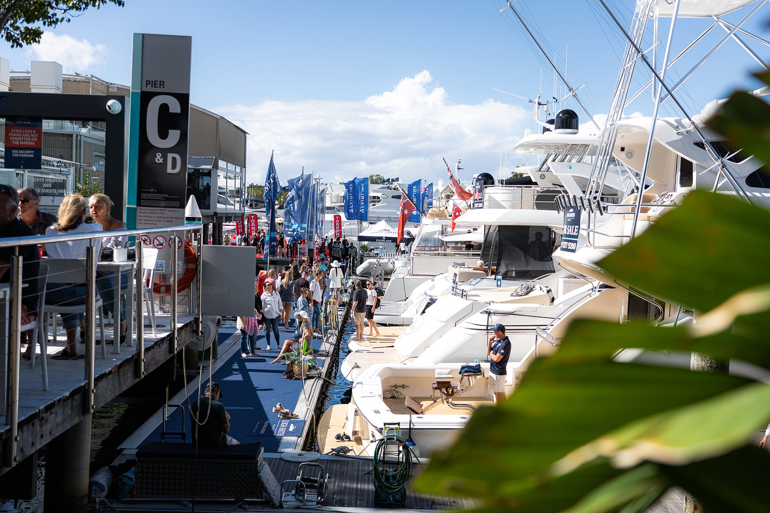 view of the Sanctuary Cove international Boat Show