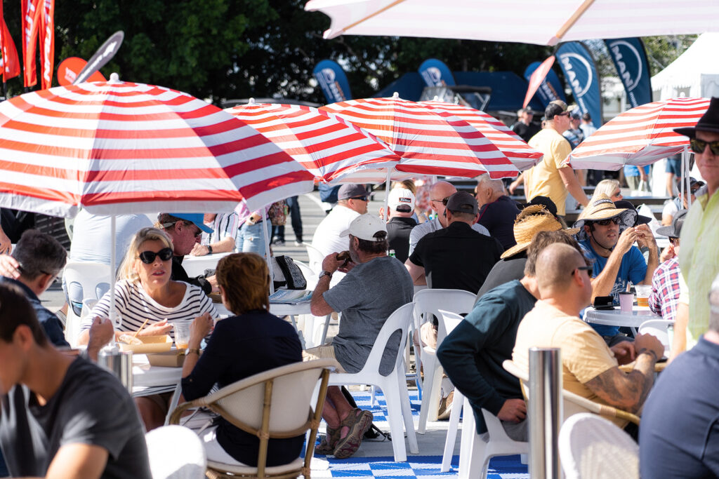 people seated at the Sanctuary Cove International Boat Show