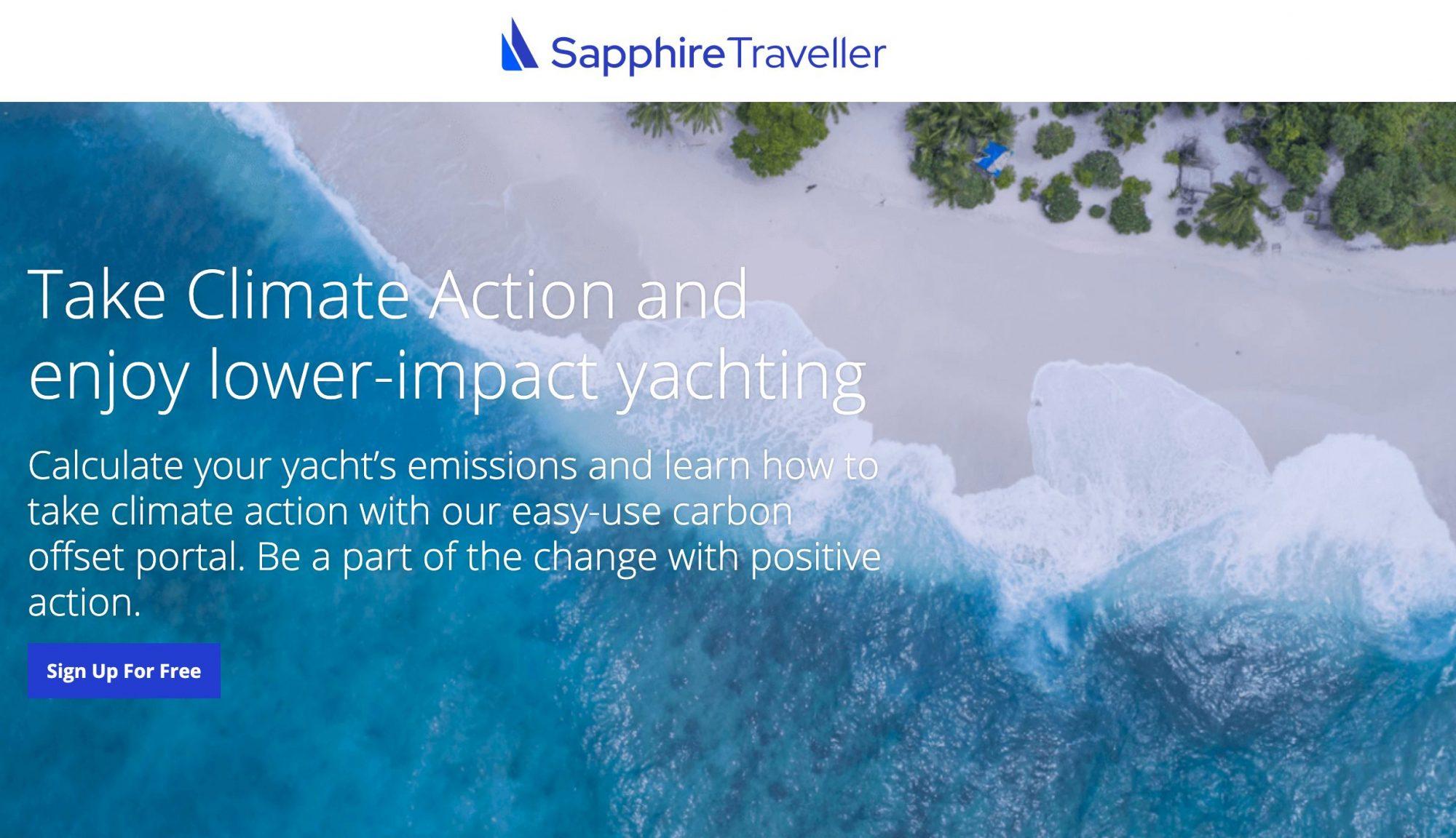 website header from Sapphire Traveller