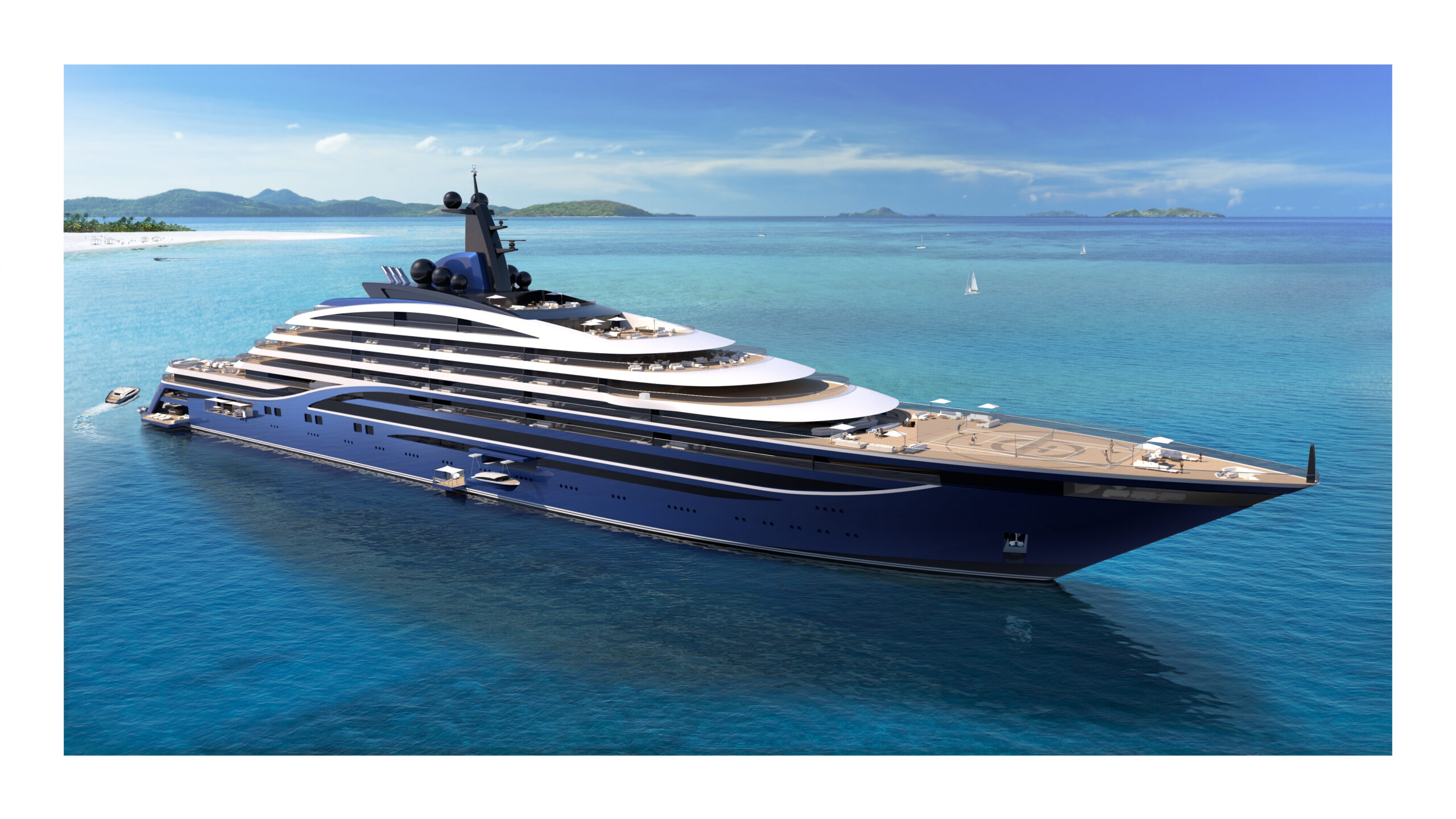 Somnio superyacht anchored