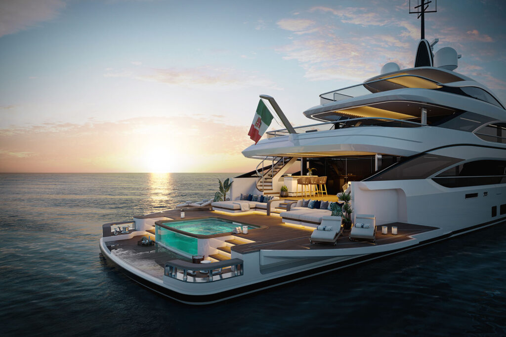 shot of the oasis deck from Benetti