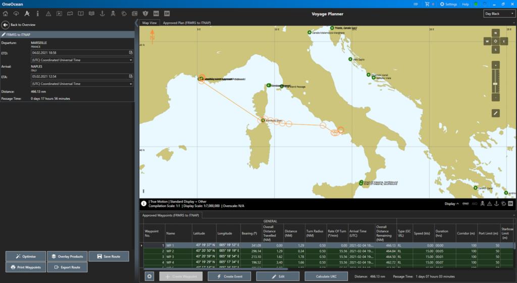 screenshot of OneOcean software