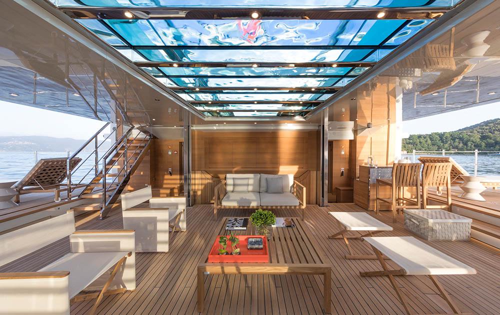interior shot onboard Sanlorenzo Steel52