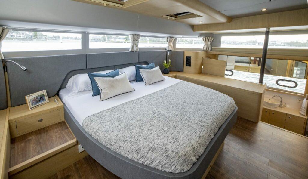 Master suite onboard Aquila 54
