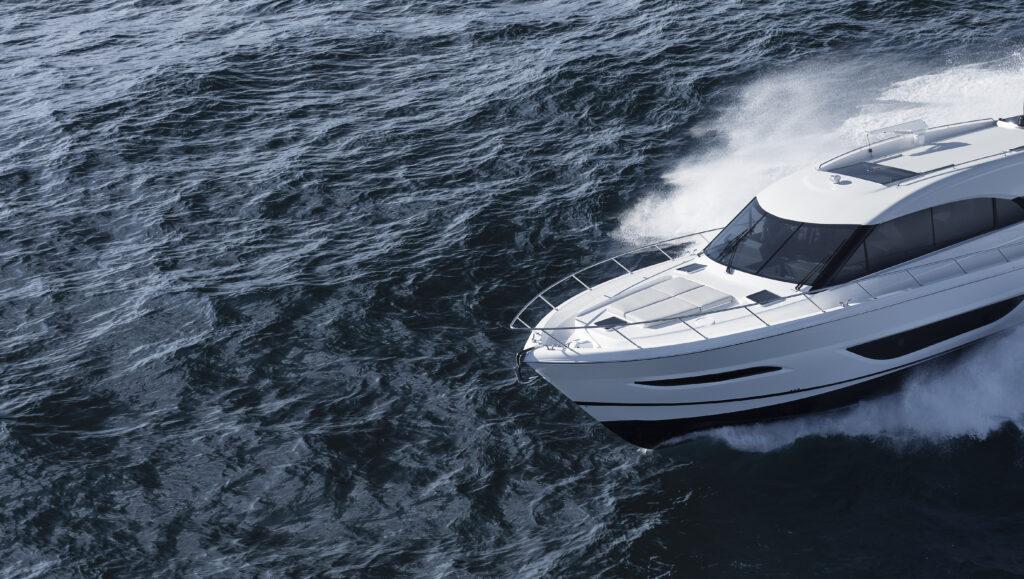 Maritimo S55 cruising artistic angle