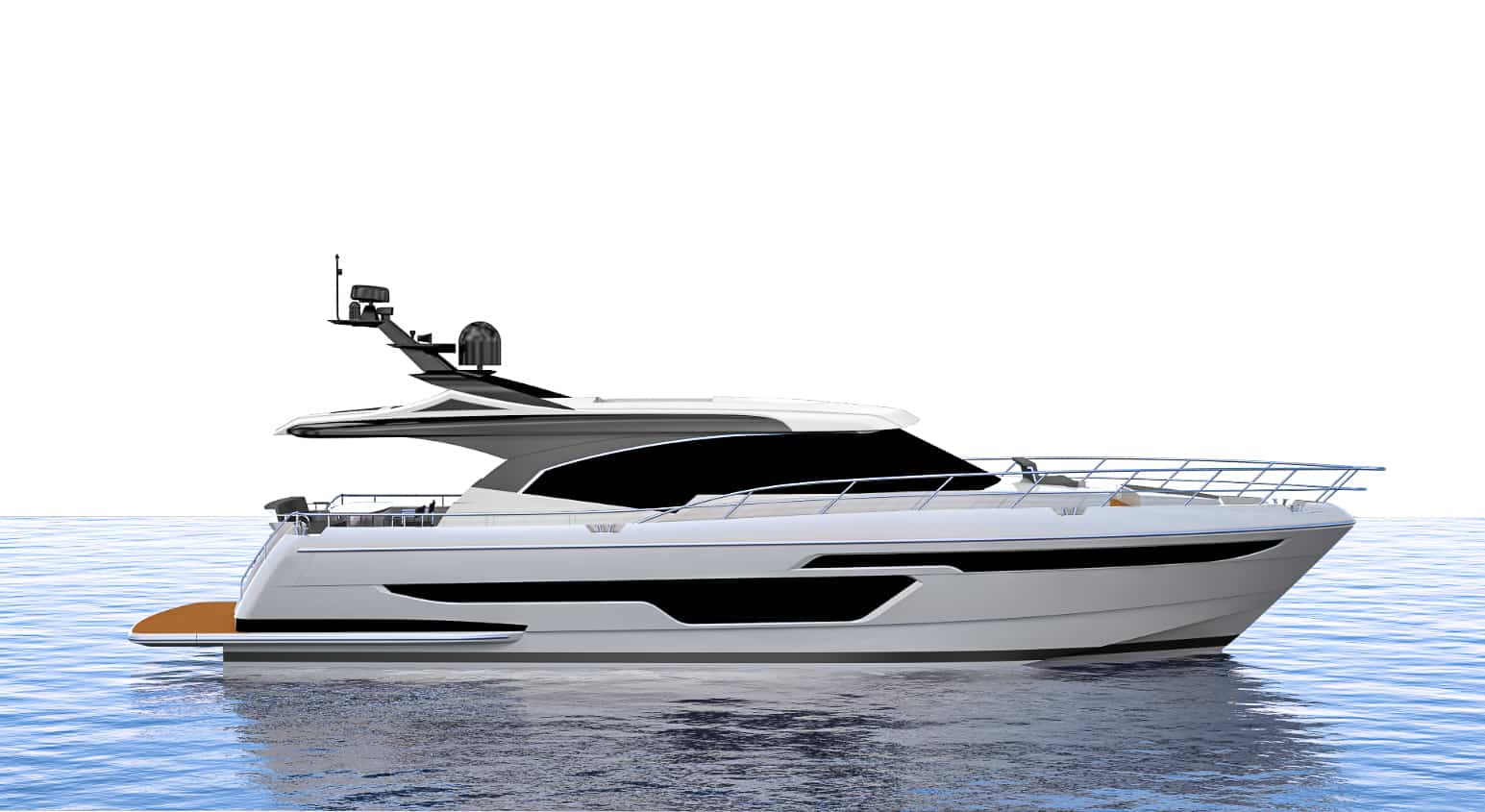render of Whitehaven 6100 Coupe side angle
