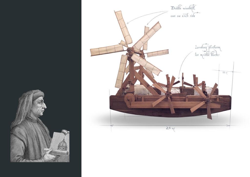Early vessel design by Leonardo Da Vinci
