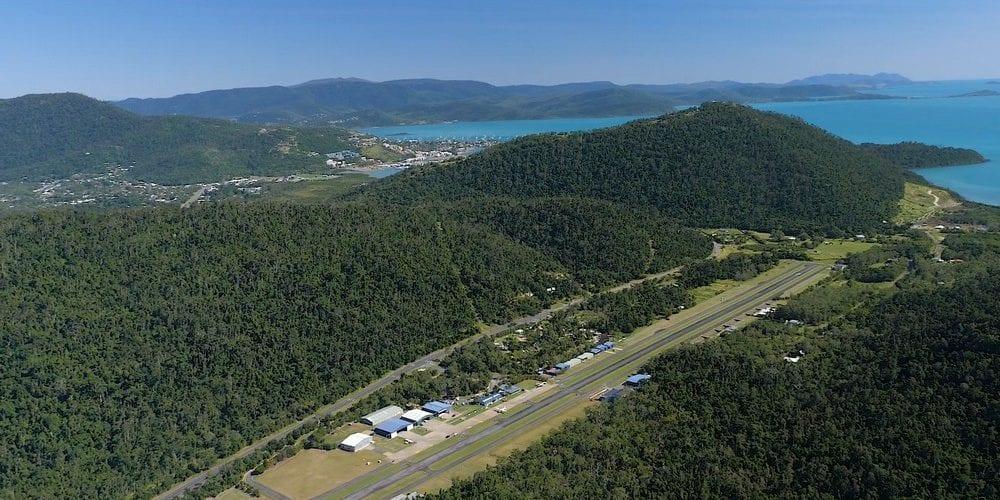 aerial of Whitsundays airport