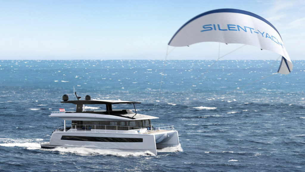 Silent 60 with kite wing deployed