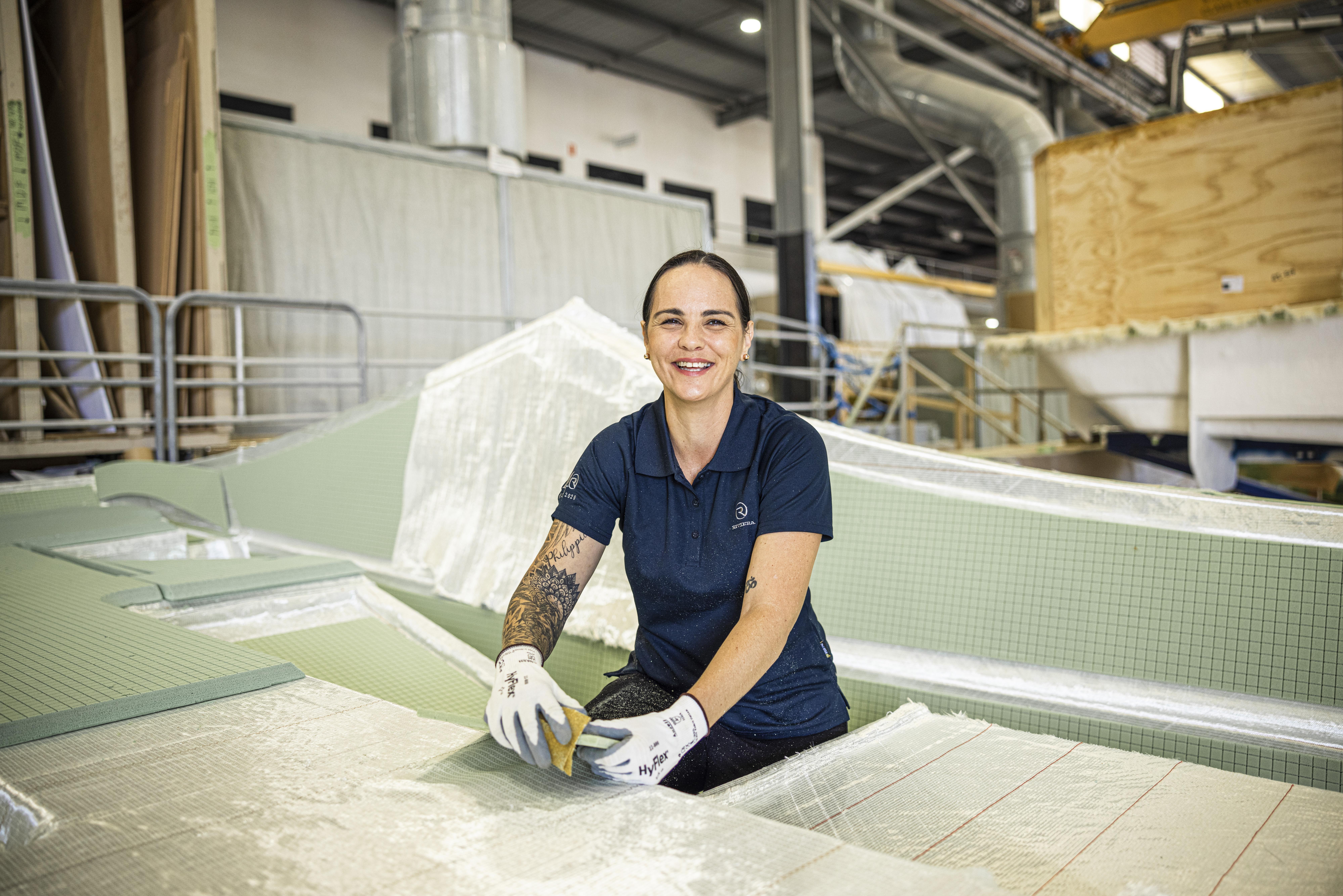 Kylie Scott pictured working at Riviera