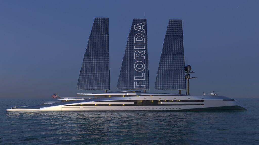 render of Florida superyacht by Kurt Strand