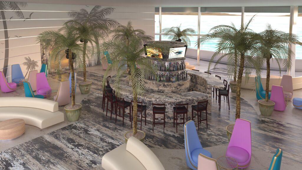 interior renderof the Florida superyacht