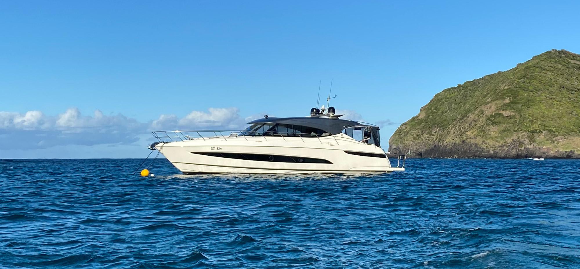 Riviera Boat anchored at Lord Howe