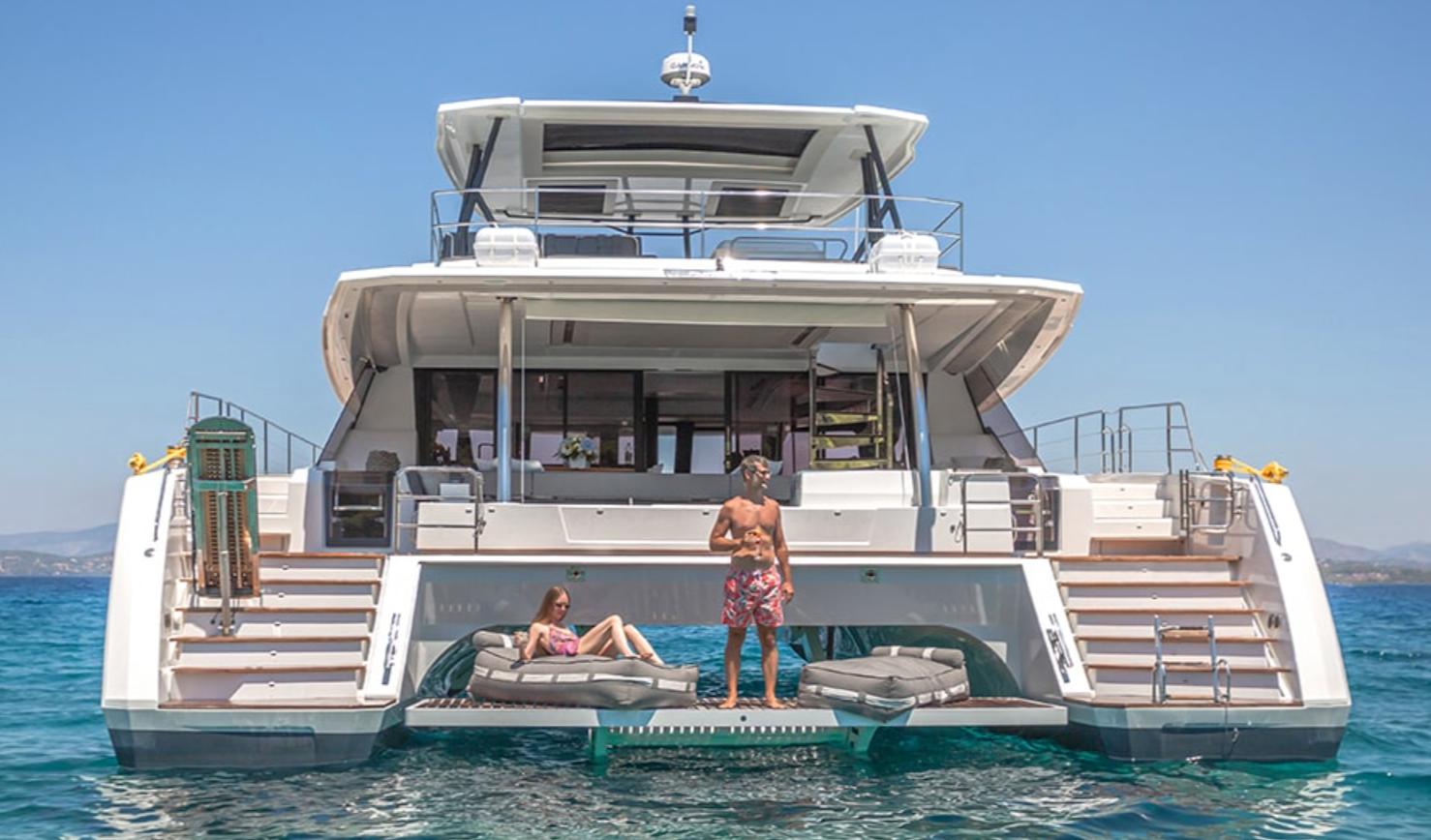 swim platform onboard the FPMY Power 67