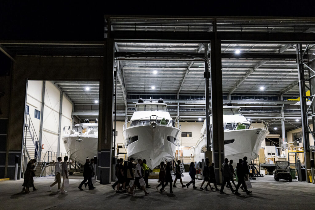 Riviera Yachts in the final fitout building