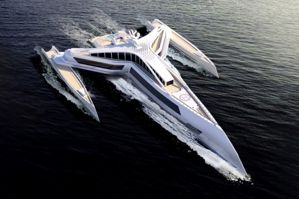 Estrella superyacht pictured cruising
